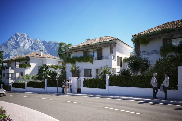 3 bedroom new built luxury apartments in Lomas del Rey, Marbella near Puente Romano