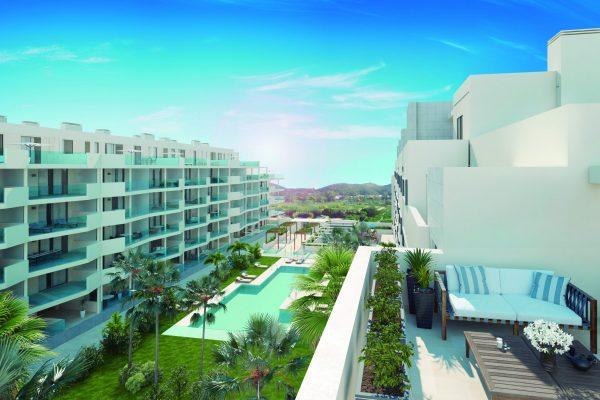 Cosy new build 1- 2- & 3-bedroom apartments in Mijas, Las Lagunas